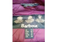 Barbour Quilted Jacket Burgundy