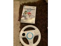 Mario kart and wheel Nintendo wii