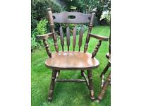 Set of farmhouse dining chairs including carver