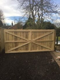 Gate 12ft x 6ft Heat Treated. As New and unused