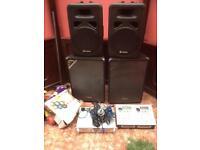 Pro sound bundle 1000 watts