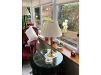 Table lamp and shade