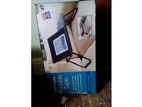 Black folding laptop/bed table. New. £7.