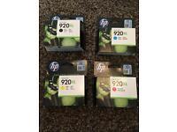 Set of HP 920XL ink cartridges