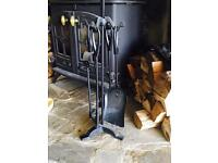 New Inglenook Cast Iron 5 Piece Fireplace Accessories New in Box