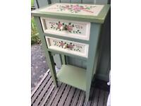 Gorgeous painted floral side end bedside table