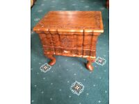 Beautiful Hardwood Sewing Box with Queen Anne Legs