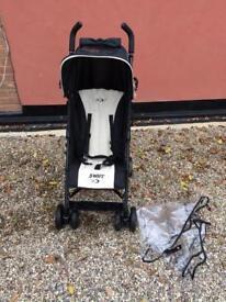 Swift Black And Cream Pushchair Stroller