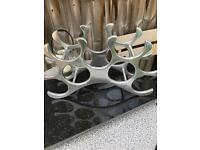 Alu wine rack holds x 9 bottles