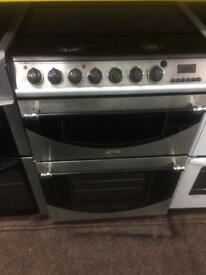 Stainless steel belling 60cm dual fuel cooker grill & double fan ovens with guarantee bargain
