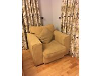 Three piece suite/curtains for sale