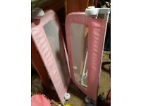 Pink bed guard 2 sides
