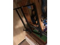 7 Guitar stand which folds flat. Black with cushioned bases