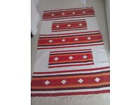 Red washable matching rugs x 3