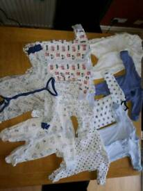 Premature tiny Baby boy twins sleeping suits,baby grows