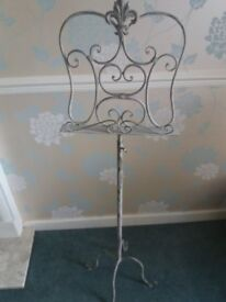 antique style music stand. adjustable height