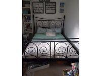 King size metal bed frame