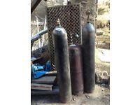 Gas welding bottles