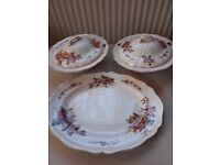ROYAL DOULTON CHINA TUREENS. WILTON. + LARGE SERVING PLATE. GOOD COND.