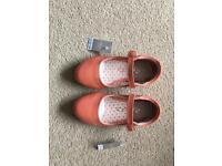 Girls Ballerina Shoes Size 8 (Three Pairs)