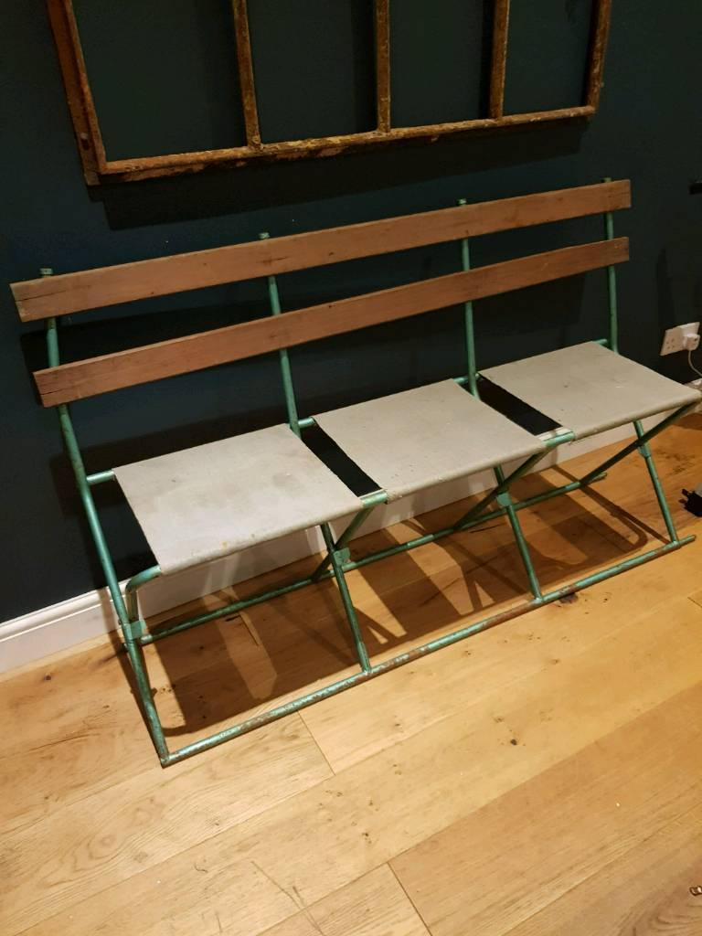 Prime Vintage Folding Theatre Bench Seat In Eastleigh Hampshire Gumtree Caraccident5 Cool Chair Designs And Ideas Caraccident5Info