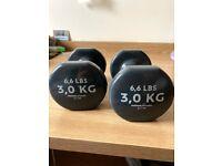 3kg dumbbells
