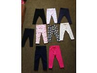 Baby girls bundle of clothes & pj's 12-18