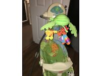 Fisherprice open top baby craddle swing - excellent condition