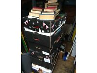 7 BOXES OF OLD BOOKS