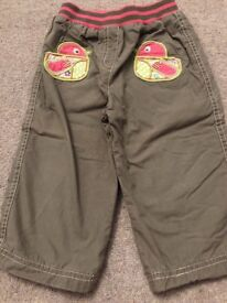 Girls trousers age 12-18 months