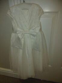John Rocha Girls Ivory lace dress