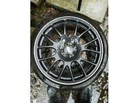 "Vauxhall astra vectra 5x110 5 110 bbs ch style 19"" alloy wheels"