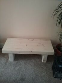 Brand new Heavy Solid pine coffee table .