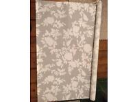 Grey and white roller blind £10