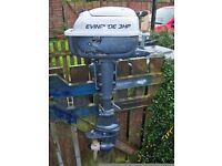 OUTBOARD EVINRUDE 3HP OUTBOARD (FOLD UP)