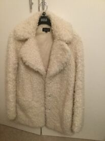 Topshop Faux Fur Coat size 6