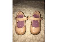 Next Tan baby shoes Infant size 4