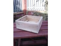 NEW SQUARE FLOWER PLANTERS,TREATED GARDEN FLOWER BOXES, MANY SIZES/COLOURS,HANDMADE BOX.