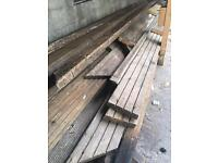 Various length used decking boards/wood -FREE
