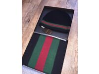 Gucci Hat and Scarf Set