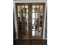 Mahogany double doors