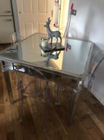 Mirrored table and chairs