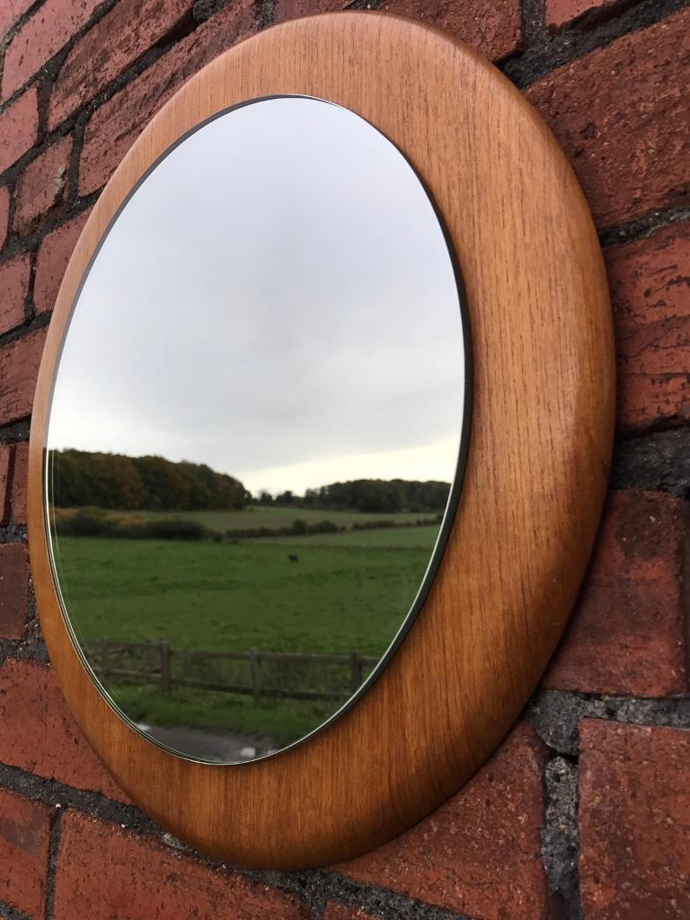 Vintage Mid Century, Teak Framed Mirror
