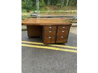 Bespoke Made Industrial Double Fronted Desk