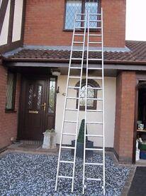 Youngmans double aluminium extending ladder
