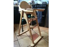 High chair. Wooden. East Coast.
