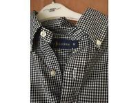 Men's medium black and white checked Ralph Lauren shirt