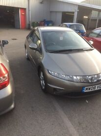Honda civic 2008 iShift automatic -Excellent condition, Full service history only 46000 miles