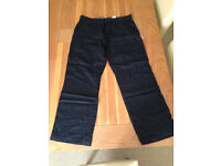 "Next Men's Black Linen Trousers (36""R) (never worn) JUST REDUCED"