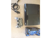 ps3 500gb super slim with afterglow wireless controller